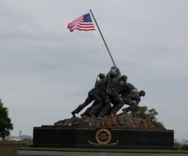 Homenaje Iwo Jima en Arlington cerca de Washington DC