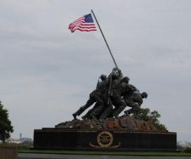 Homenaje Iwo Jima en Arlington cerca de Washington DC