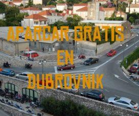 Aparcar gratis en Dubrovnik Croacia