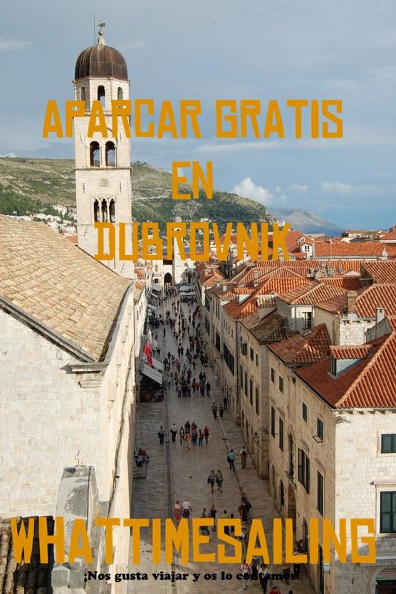 Aparcar gratis en Dubrovnik
