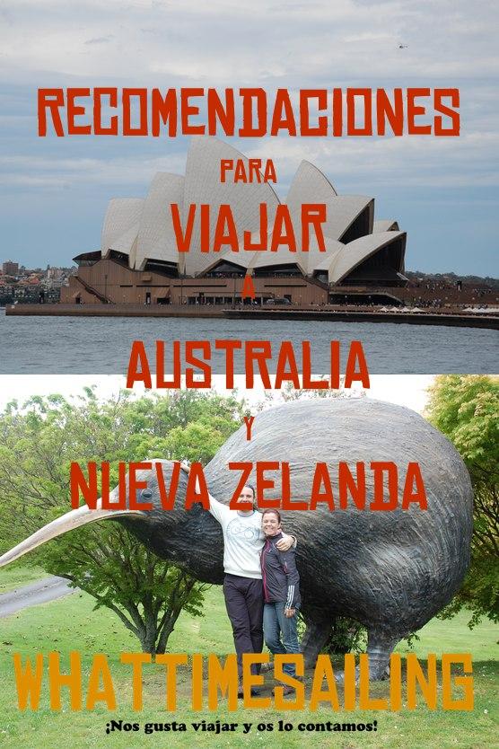 REcomendaciones para viajar a Australia y Nueva Zelanda