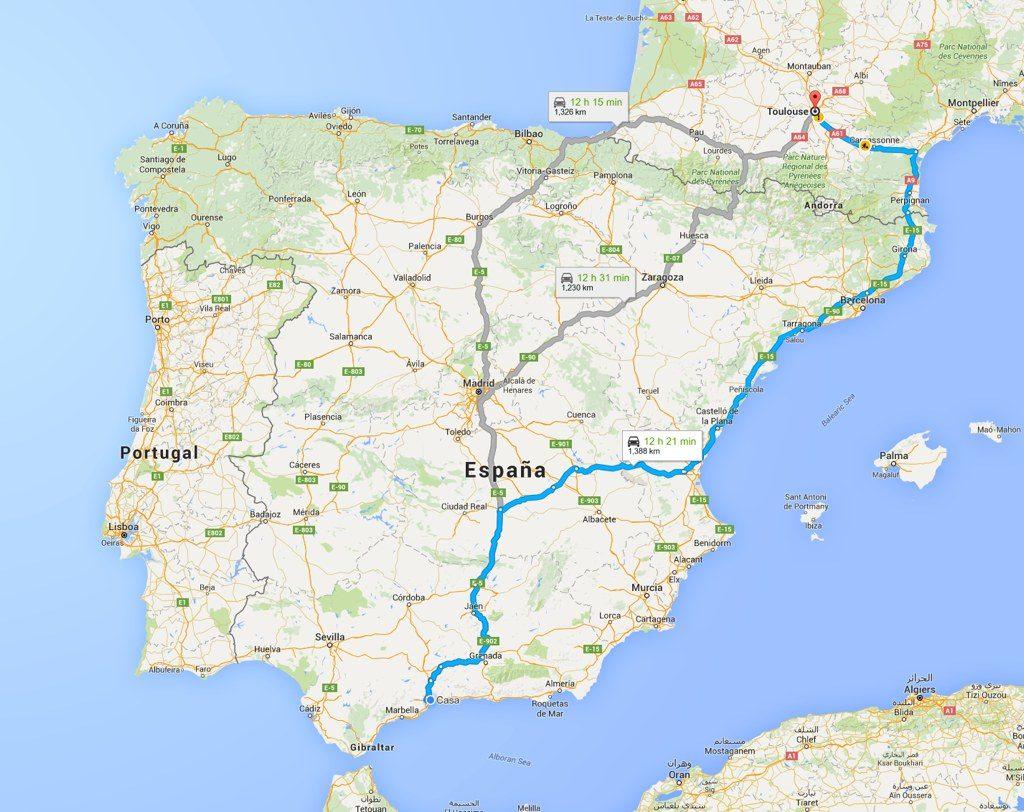 DEsde-el-sur de-España a los-castillos-cataros