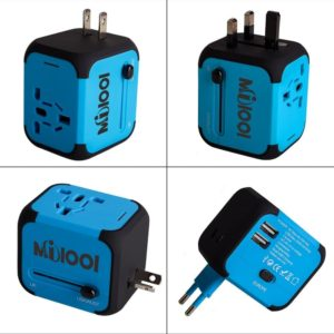 Adaptador Enchufe multipaís con 2 USB