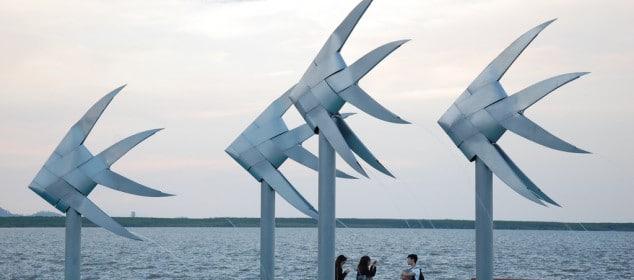 Escultura en La laguna de Cairns