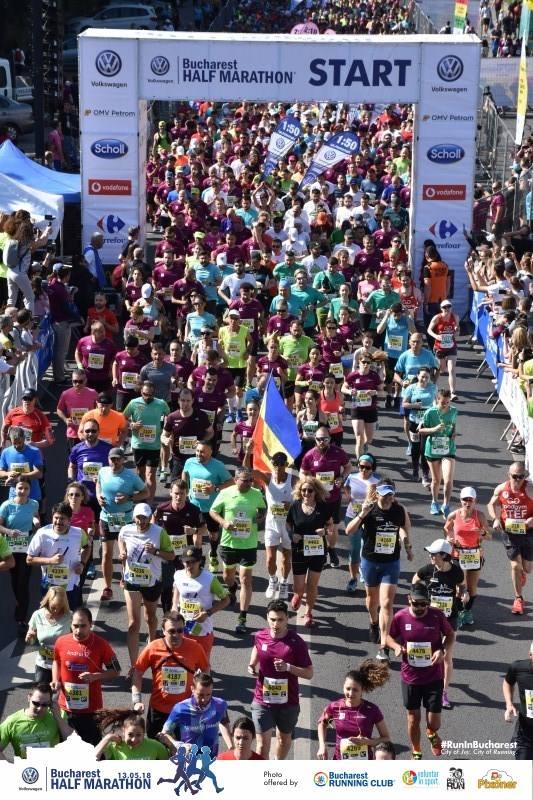 Salida Media Maratón Bucarest haciendo turismo deportivo
