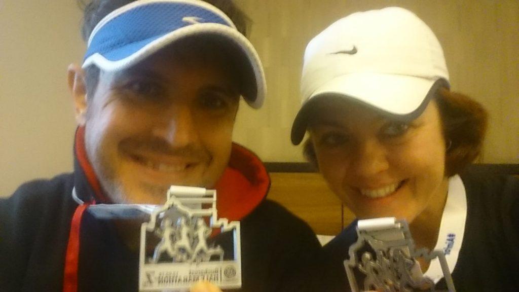 Medalla media maratón Bucarest