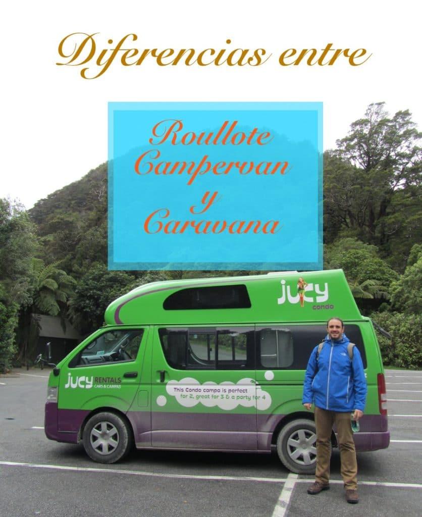 Diferencias entre campervan,caravana, roullotte y motorhome